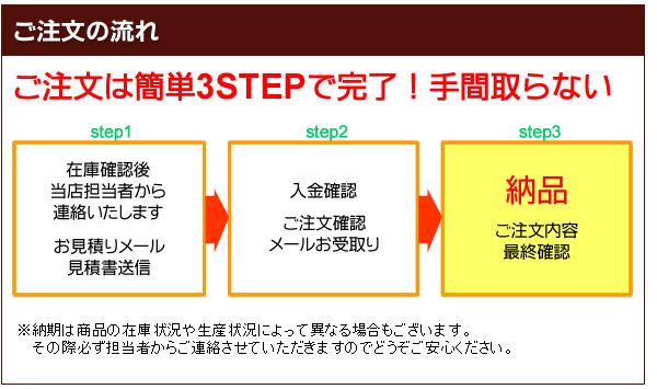 ご注文の流れ ご注文は簡単3STEPで完了