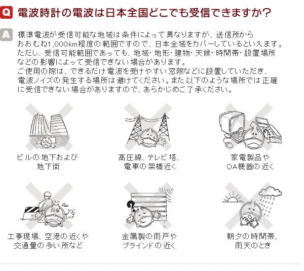 Q2 電波時計の電波は日本全国どこでも受信できるのか できます