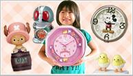 お子様に人気のキャラクター時計。ディズニーやジブリなど様々な掛け時計、置き時計があります。