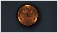 夜でも見える夜光クロック。寝室に置いてもハッキリ見えて眩しくない掛け時計です。