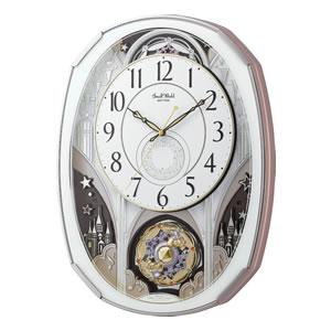 SmallWorld 電波からくり掛け時計 スモールワールドノエルM 【4MN513RH03】 白