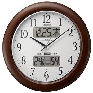 CITIZEN シチズン 環境目安表示機能付電波掛け時計 インフォームナビW【4fy619006】