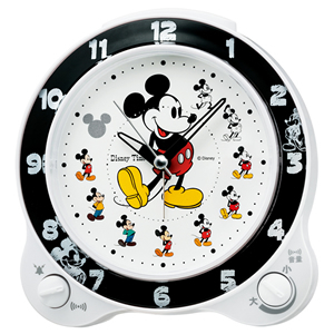 SEIKO セイコー ディズニーキャラクター目覚まし時計 ミッキーマウス【FD461W】