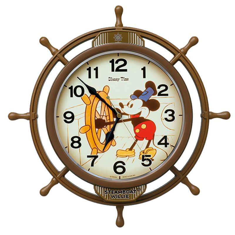 Seiko(セイコ)キャラクタークロック ミッキーマウス Disney Time 電波振り子時計 Fw583a