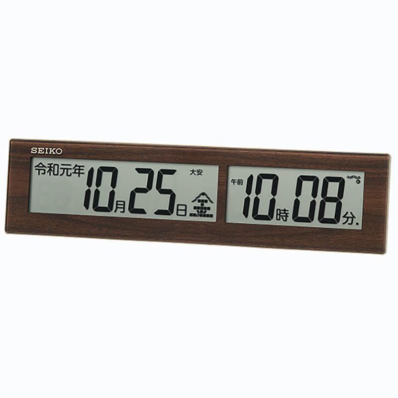 シンプルで便利な掛け置き電波時計は、新築や引っ越し・開業祝いなどの贈り物にもぴったり。