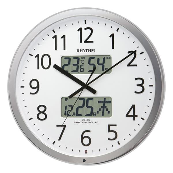 RHYTHM リズム 電波 掛け時計 プログラムカレンダー403SR 4FN403SR19
