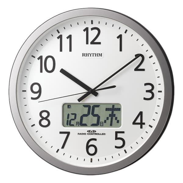 RHYTHM リズム 電波 掛け時計 プログラムカレンダー405SR 4FN405SR19 35cm