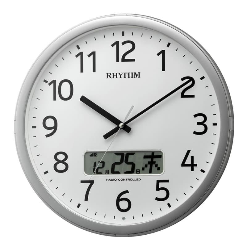 RHYTHM リズム 電波 掛け時計 プログラムカレンダー01SR 4FNA01SR19 35cm