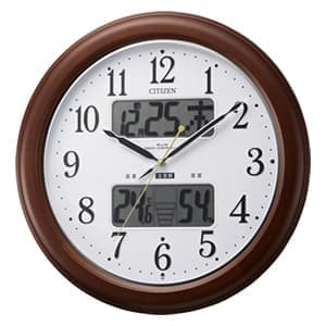 CITIZEN シチズン 環境目安表示機能付電波掛け時計 インフォームナビEX【4fy620006】 36cm