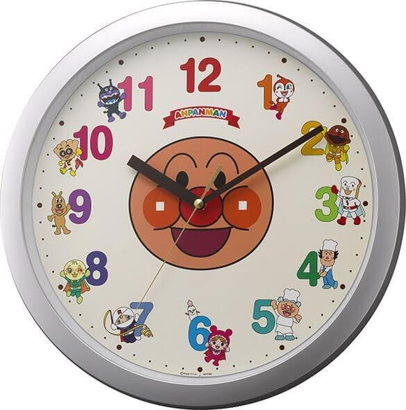 リズム時計 キャラクター時計 アンパンマン 4KG713-M19 掛け時計