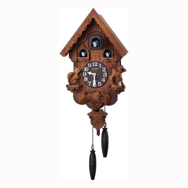 RHYTHM リズム 木製 カッコー 掛け時計 カッコーパンキーR 4MJ221RH06