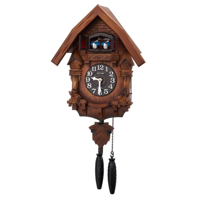 RHYTHM リズム 木製 カッコー 掛け時計 カッコーテレスR 4MJ236RH06