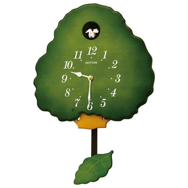 RHYTHM リズム 木製 カッコー 掛け時計 グレイスカッコー413R 4MJ413RH05