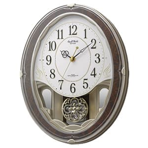 CITIZEN シチズン 電波壁掛け時計 スモールワールドハイム 【4MN520RH23】