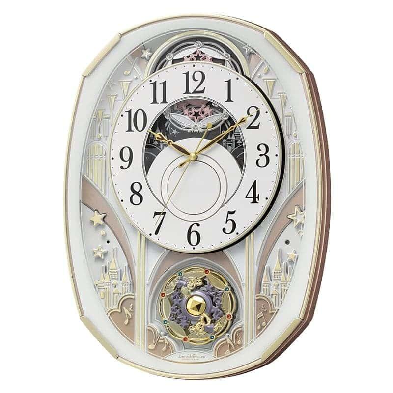 RHYTHM リズム SmallWorld 電波からくり掛け時計 スモールワールドノエルS 4MN551RH03