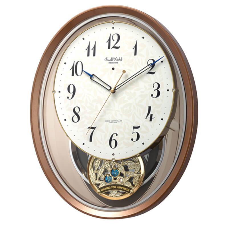 RHYTHM リズム SmallWorld 電波からくり掛け時計 スモールワールドエアルN【4MN555RH06】