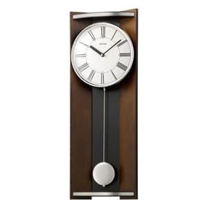 RHYTHM リズム 木製 掛け時計 モダンライフM05 4MPA05RH06 茶色