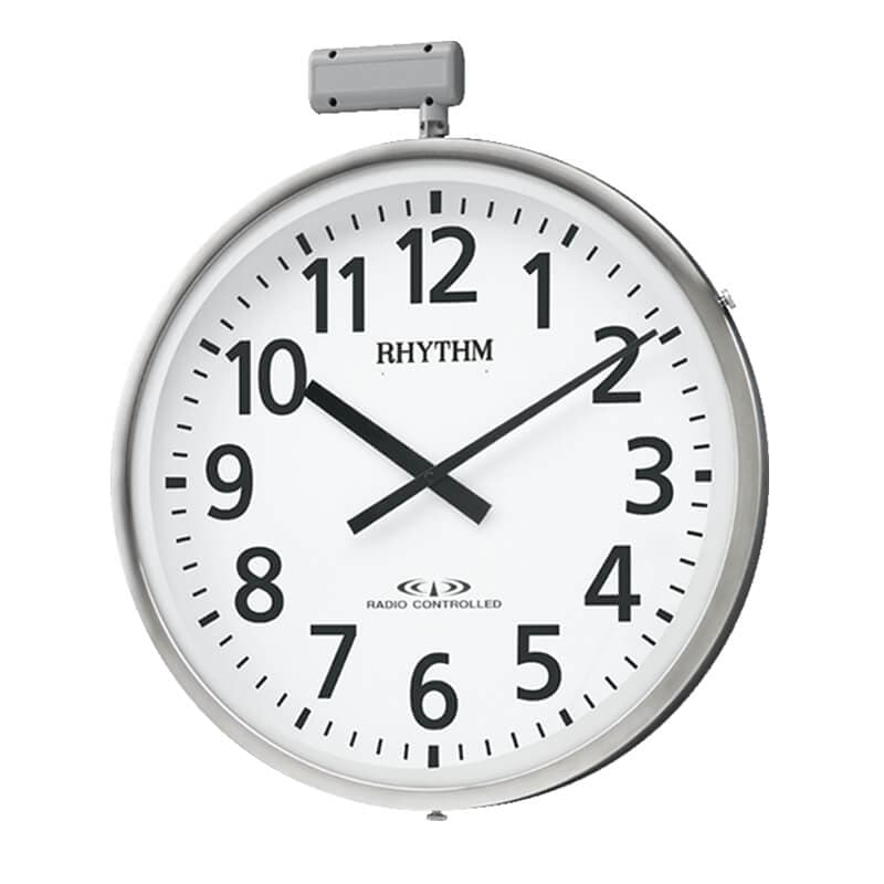 RHYTHM リズム 屋外 電波掛け時計 ムーンライトN【4MY812RH19】 50cm