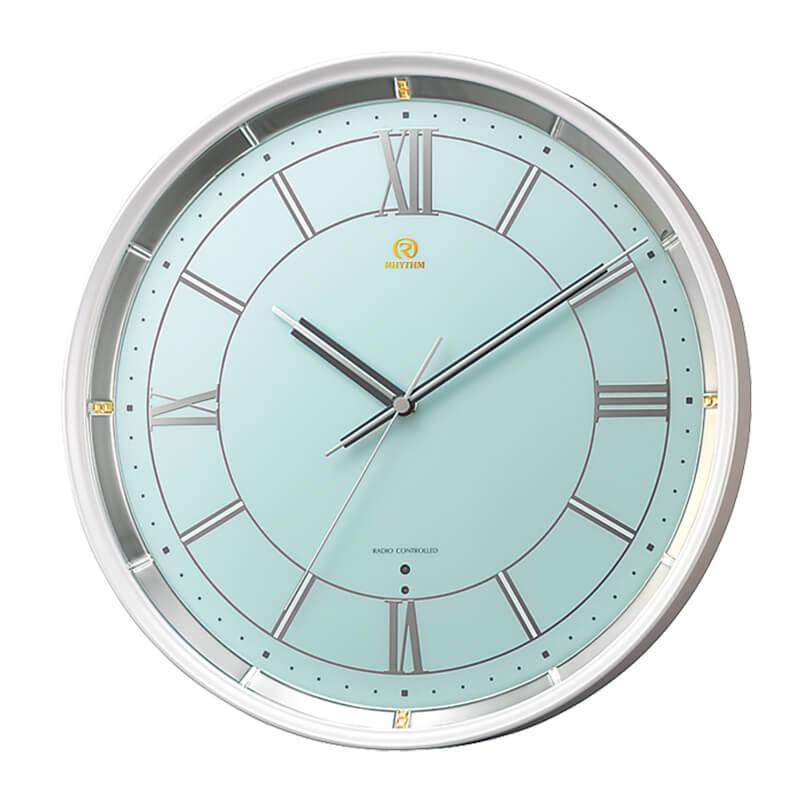 リズムクロック 電波掛け時計「PISTA」4MY856HG05