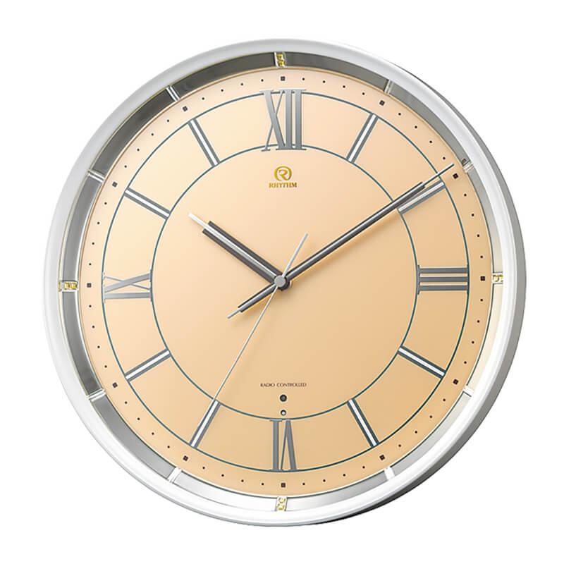リズムクロック 電波掛け時計「PISTA」4MY856HG14