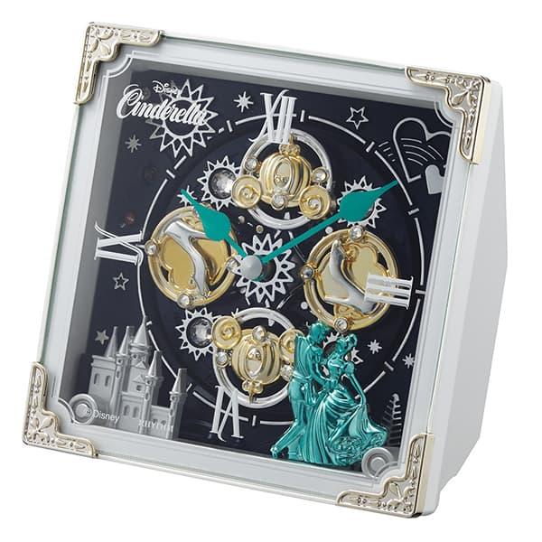 RHYTHM リズム ディズニーキャラクター からくり 置き時計 シンデレラ 4RH784MC03