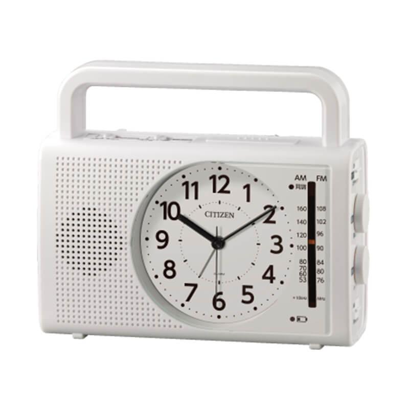 CITIZEN シチズン 防災クロック 目覚まし時計 ラジオ付き スマートフォン充電 4RQ001-003