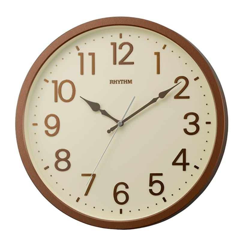 RHYTHM リズム 掛け時計 オルロージュリフレ 8MGA39SR06 茶メタリック