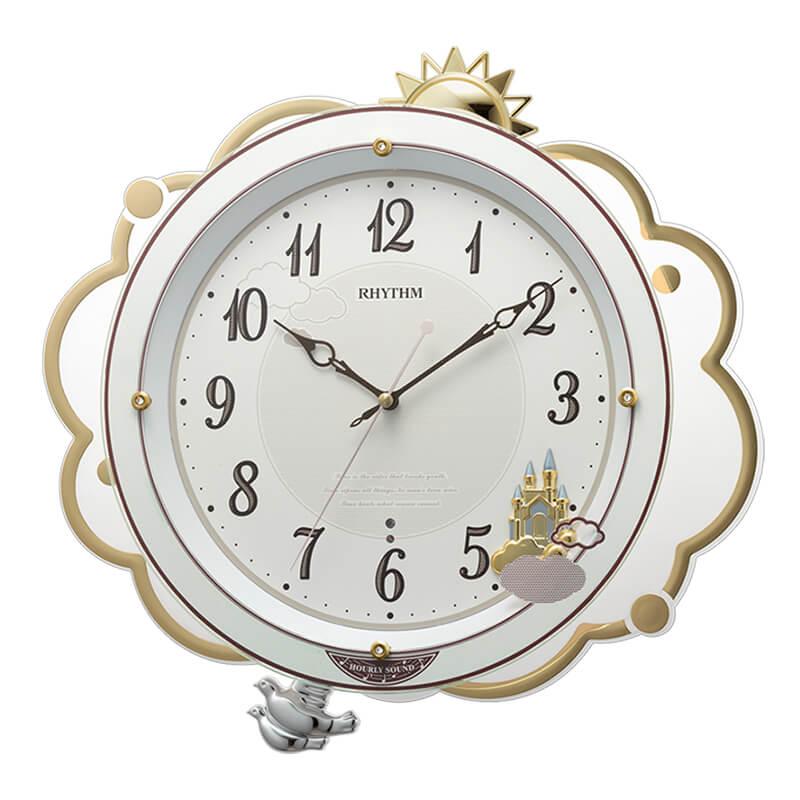 RHYTHM リズム 電波掛け時計 ファンタジースカイM410 8MN410SR03 36cm