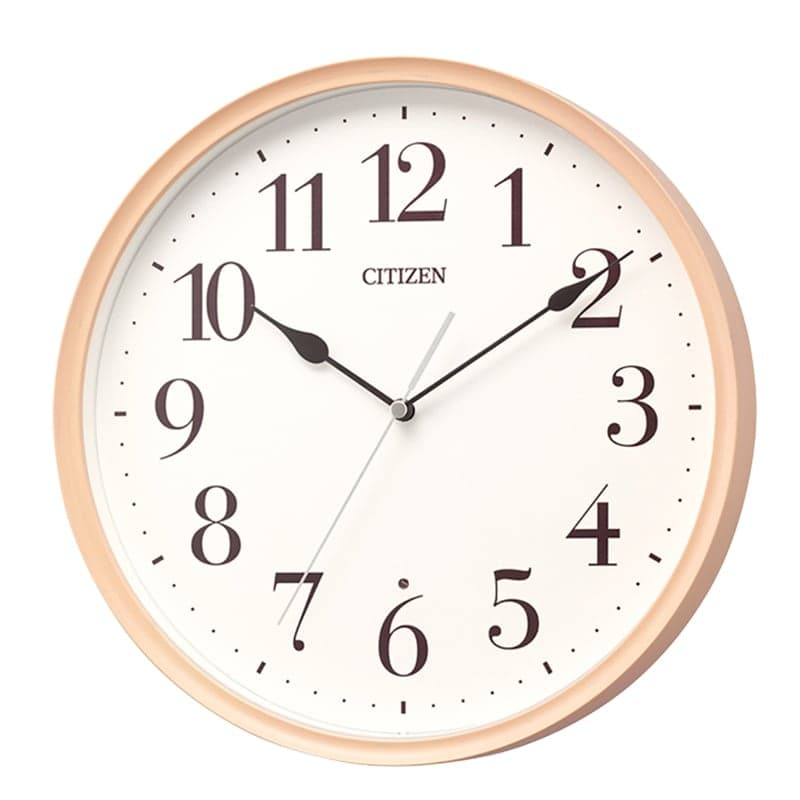 CITIZEN シチズン 木枠 電波 掛け時計 8MY528-013 ピンク
