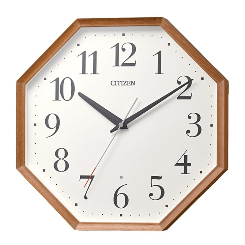 CITIZEN シチズン 木枠 電波掛け時計 8MY529-006