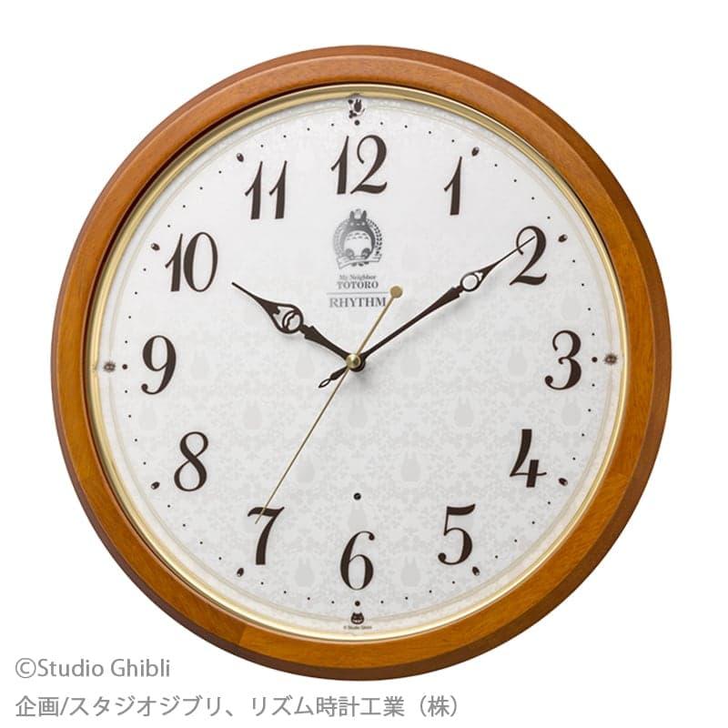 RHYTHM リズム  となりのトトロ キャラクター 電波 掛け時計 トトロM534 【8MY534MN06】