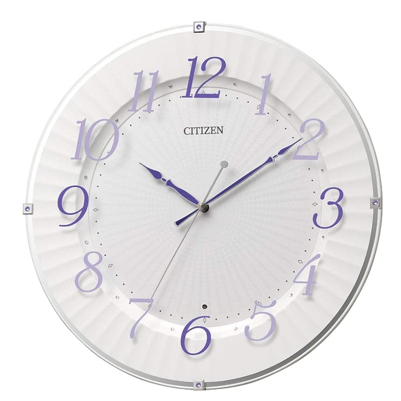 CITIZEN シチズン 電波 掛け時計 8MY537-012 紫