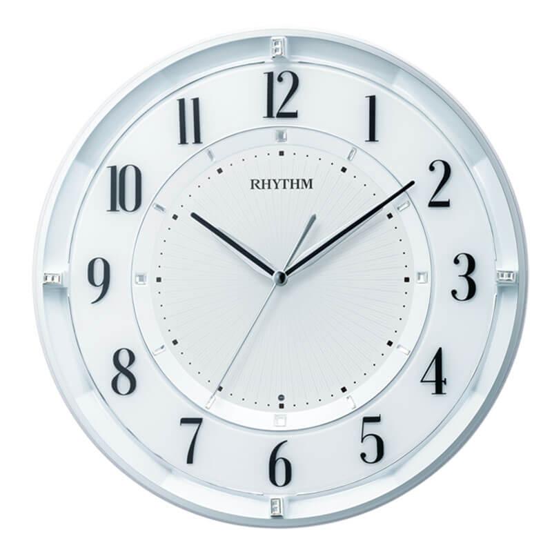 RHYTHM リズム 電波掛け時計 フィットウェーブクールM551 夜眠る秒針 8MY551SR03