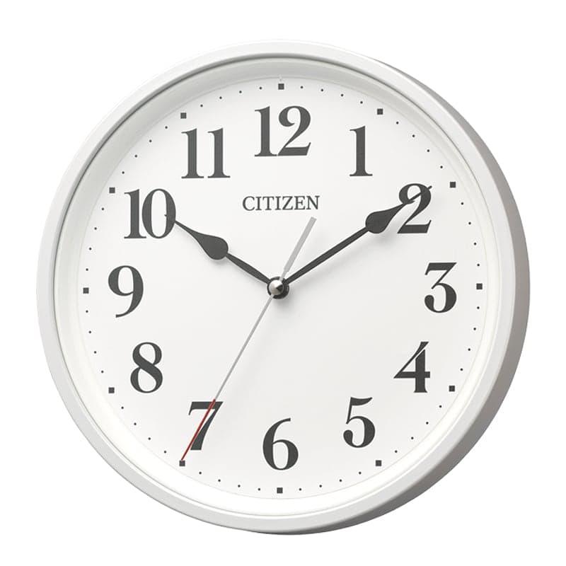 CITIZEN シチズン 掛け置き兼用 電波時計 8MYA42-003 白パール
