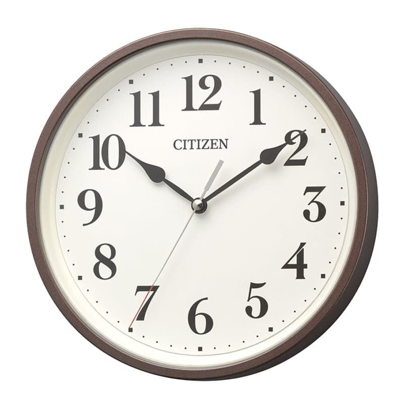 CITIZEN シチズン 掛け置き兼用 電波時計 8MYA42-006 茶メタリック