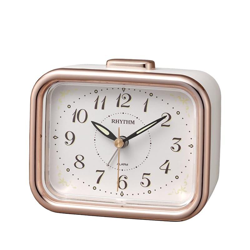RHYTHM リズム 目覚まし時計 ジャプレフルール 8RA644SR13 ピンク