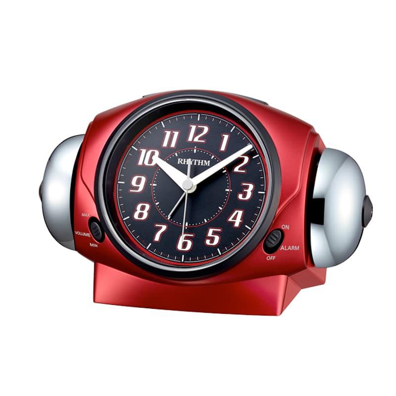 RHYTHM リズム 大音量アラーム 目覚まし時計 バトルパワー646 8RA646SR01 赤メタリック