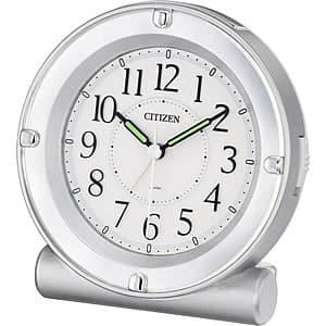 CITIZEN/シチズン 全面が点灯するライト付目覚まし時計 セリア8REA18シリーズ シルバー【8REA18019】