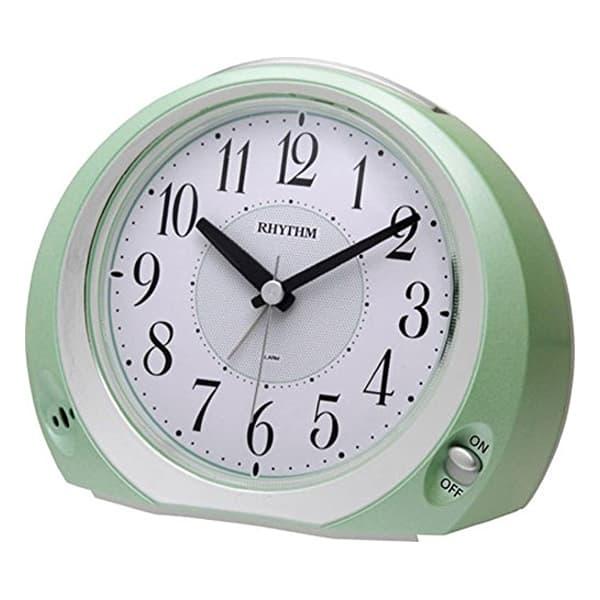 RHYTHM リズム 目覚まし時計 フェイス28 8REA28SR05 緑メタリック