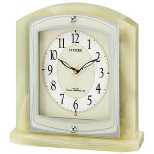 CITIZEN シチズン 電波置き時計 パルラフィーネR400 オニキス【8RY400-005】
