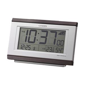 CITIZEN シチズン デジタル 電波 目覚まし時計 パルデジットキング 8RZ161006 茶