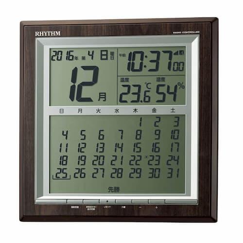 CITIZEN シチズン デジタル 電波 掛け置き兼用時計 パルデジットカレンダー142 8RZ178SR23