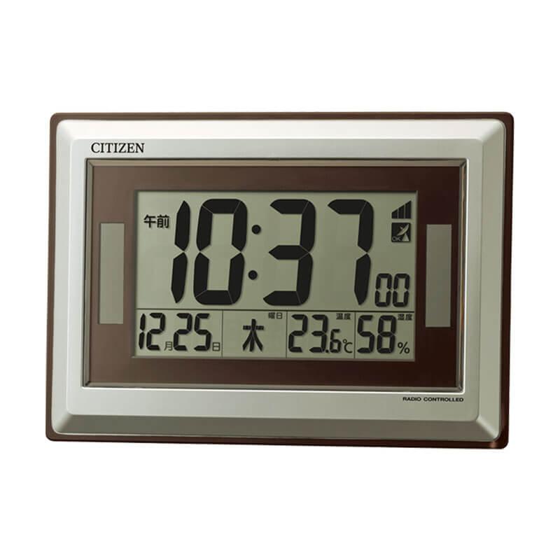 シチズン CITIZEN 電波時計 温度 湿度 ソーラー 掛け置き兼用クロック 8RZ182-019