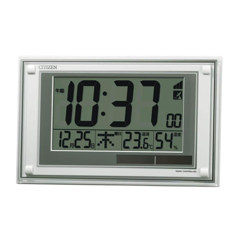 シチズン CITIZEN 電波時計 温度 湿度 ソーラー 掛け置き兼用クロック 8RZ189-003