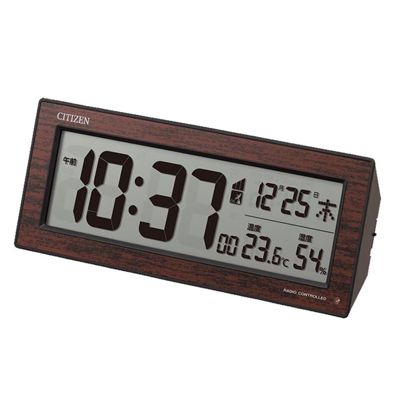 シチズン CITIZEN 電波 温度・湿度付き目覚まし時計 8RZ195-023