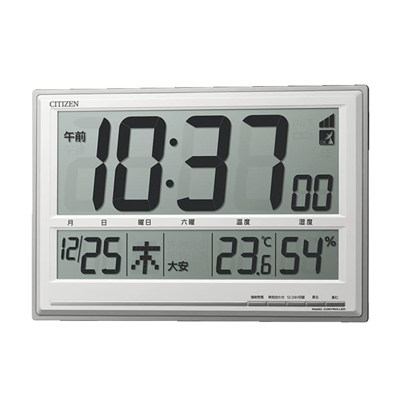 シチズン CITIZEN 電波時計 温度、六曜表示付き掛け置き兼用クロック 8RZ199-019