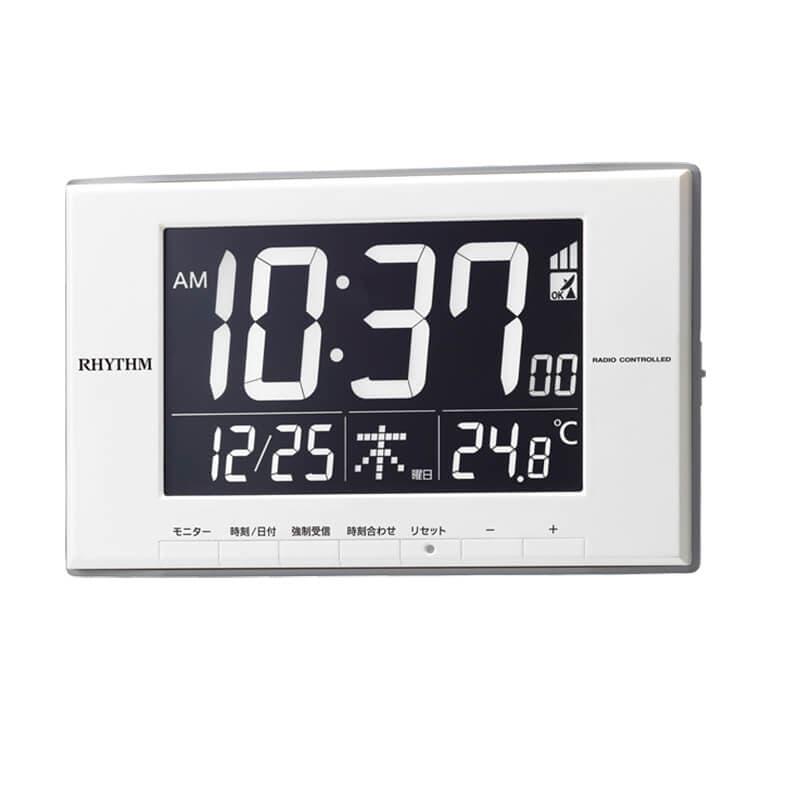 CITIZEN シチズン 温度表示 デジタル 掛け置き兼用時計 電波時計 ルーク デジットD209 8RZ209SR03