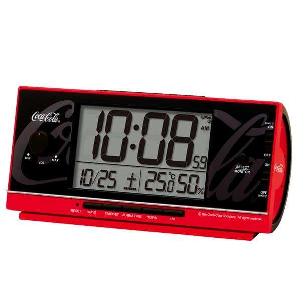 SEIKO セイコークロック コカ・コーラネーム 電波目覚まし時計 AC602R