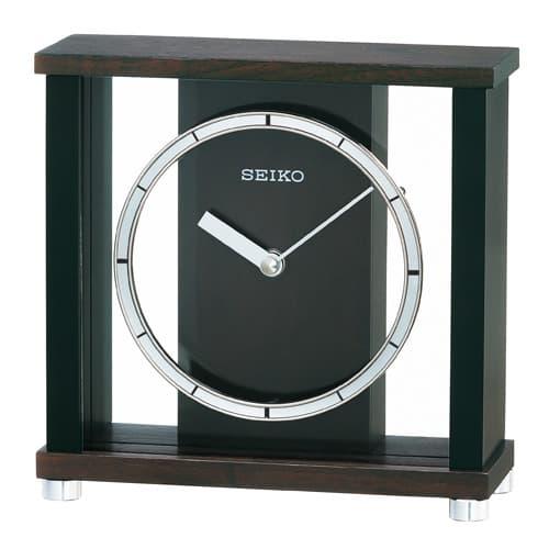 SEIKO CLOCK(セイコークロック) 木枠スタンダード置き時計(濃茶) BZ356B