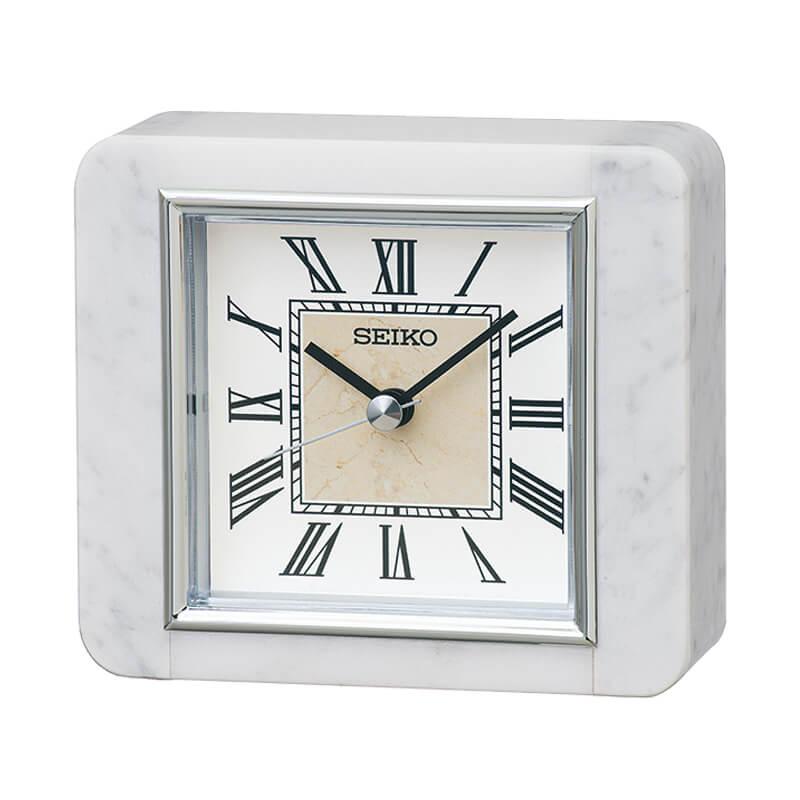 SEIKO セイコー スタンダード 白大理石 置き時計 BZ362W